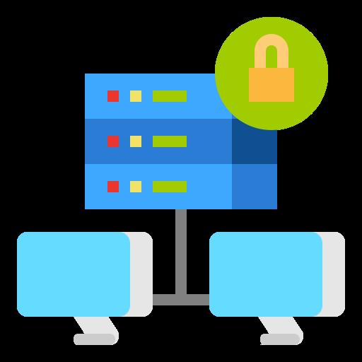 Bild på hur anslutningen blir säkrare genom VPN
